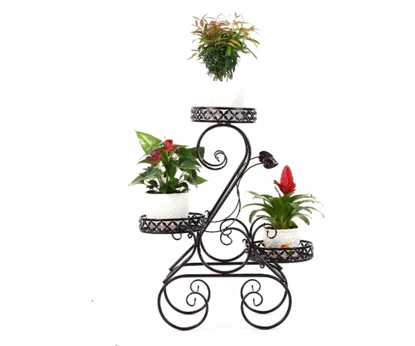 3-Tiered Scroll Classic Plant Stand HHAIPS02